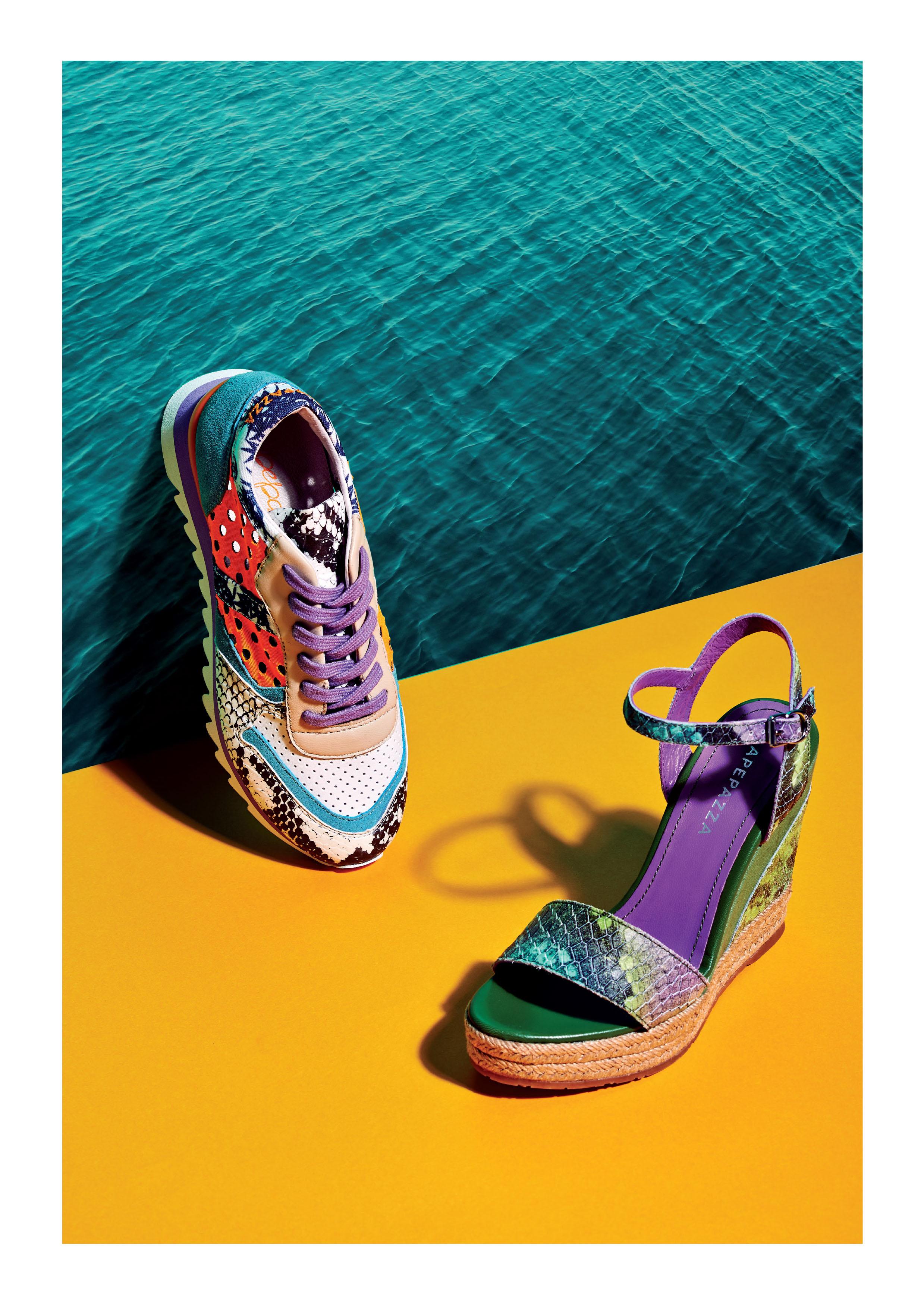 sandalo zeppa sneaker